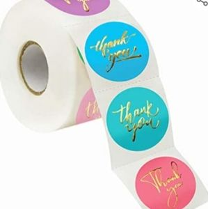 🌈50 Thank You Spring Pastels w/Gold Foil Stickers
